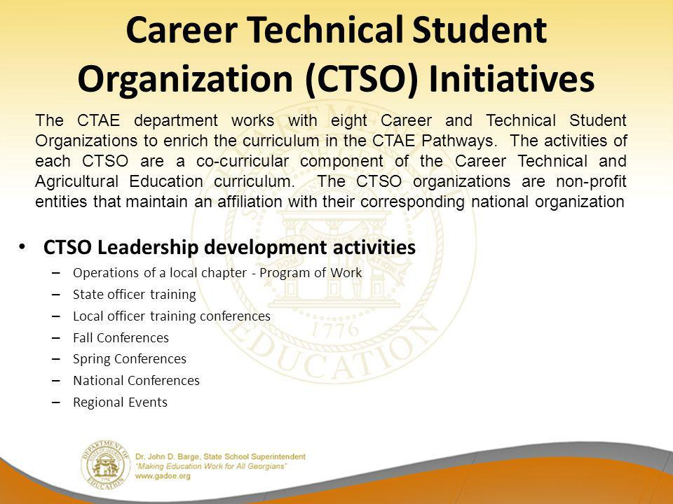 Career Technical Student Organization (CTSO) Initiatives