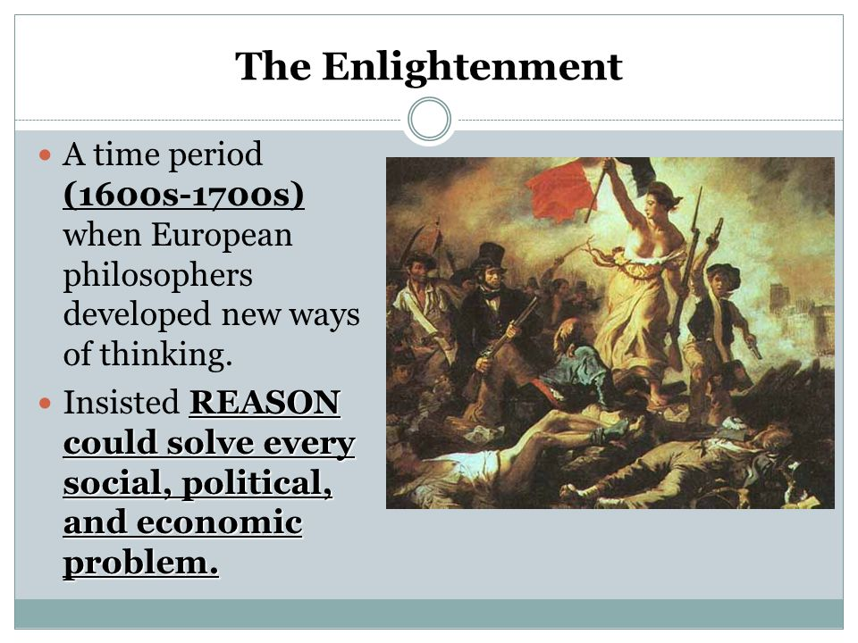 the major changes during the enlightenment period The enlightenment: those who dare to know  (2010), this was a contemporary way to make sense of recent cultural changes edelstein linked its rise to the early 18th-century quarrel of the ancients and the moderns, a debate over the respective merits of what we would call 'enlightenment europe' and the time-hallowed achievements of.