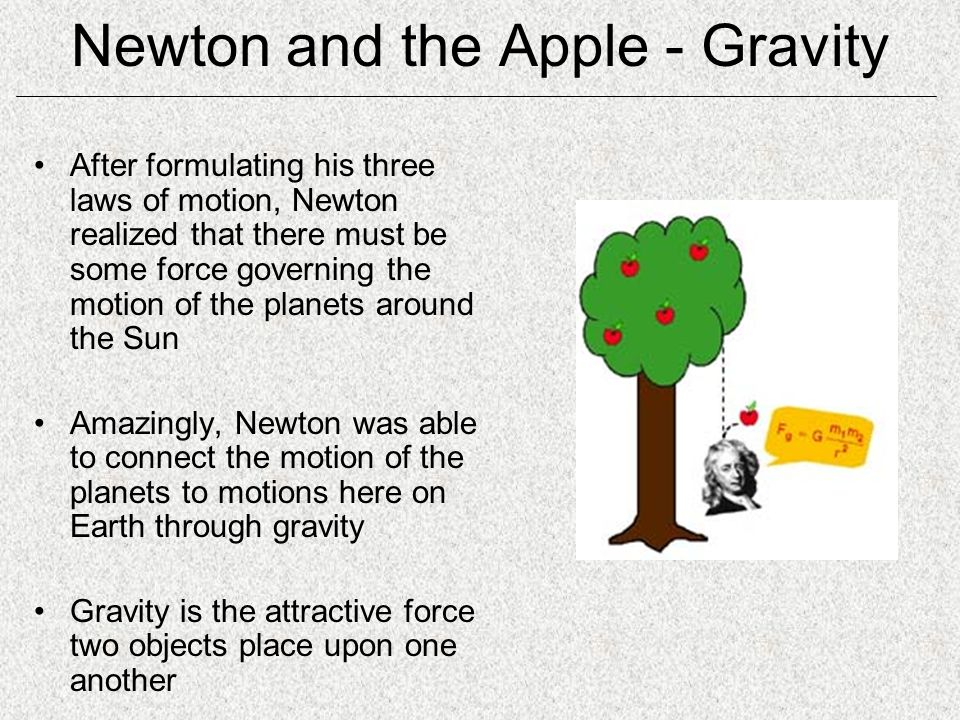 Newton and the Apple - Gravity