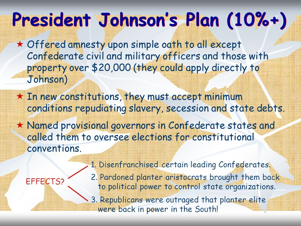 President Johnson's Plan (10%+)