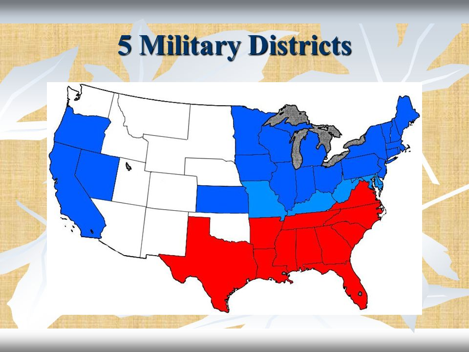 5 Military Districts