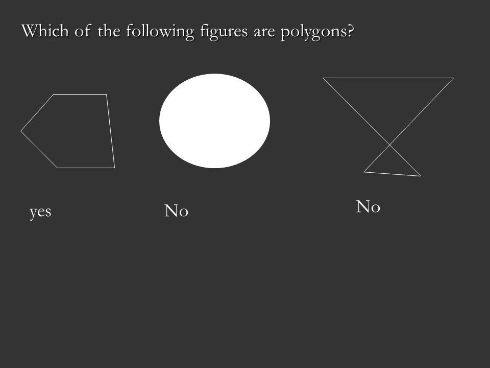 Which of the following figures are polygons