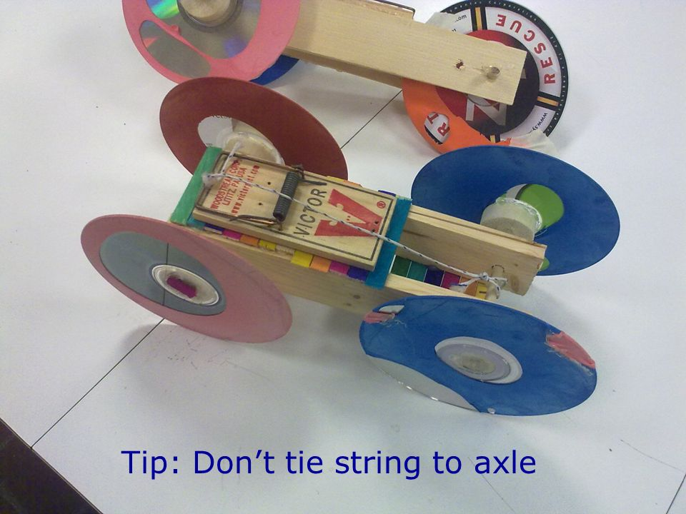 Tip: Don't tie string to axle