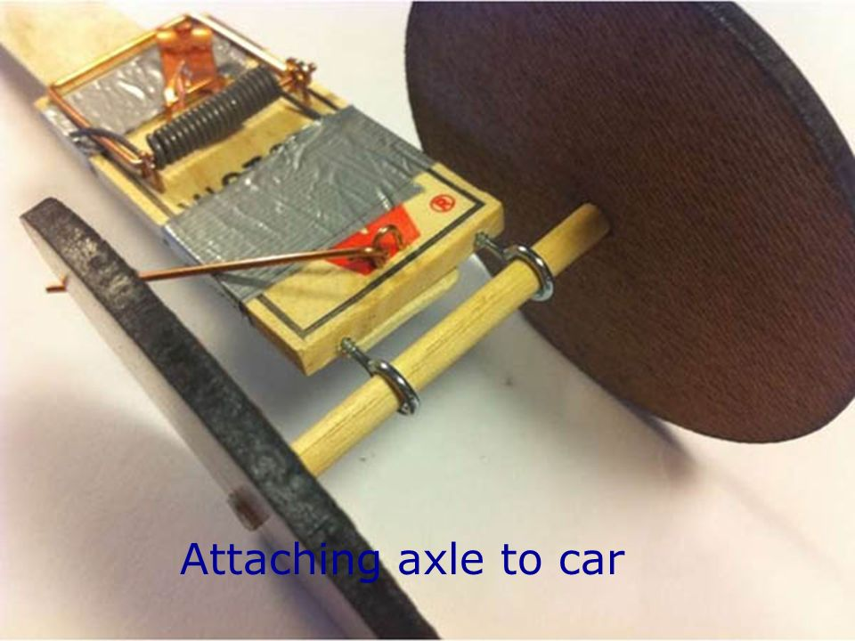 Attaching axle to car