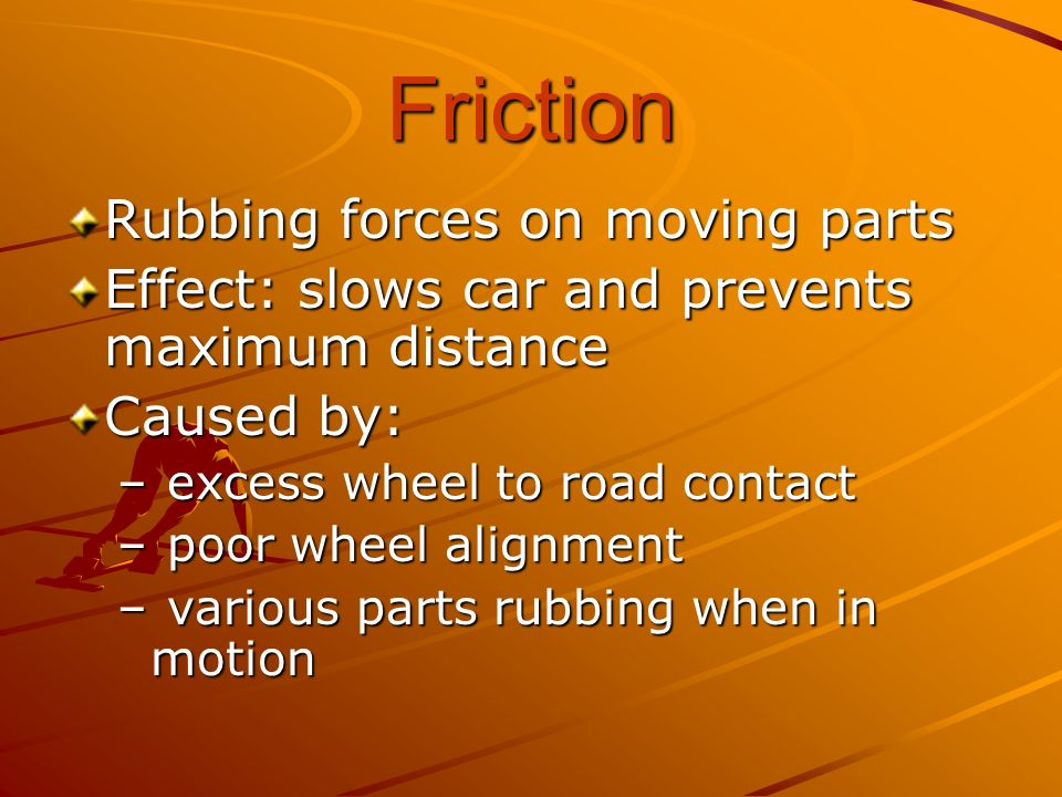 Friction Rubbing forces on moving parts