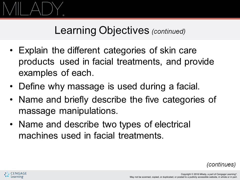 Chapter 23 Facials Ppt Download