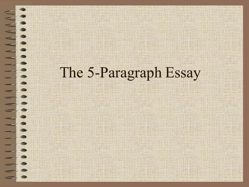 The 5-Paragraph Essay