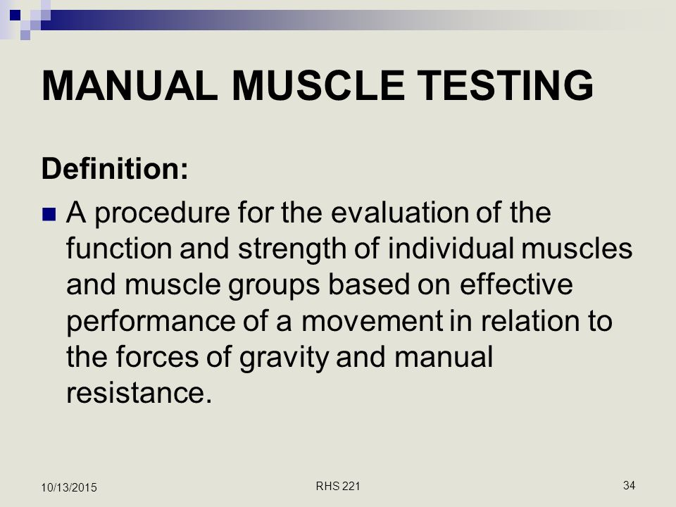 introduction to manual muscle testing ppt download rh slideplayer com manual testing definition in guru99 manual testing means
