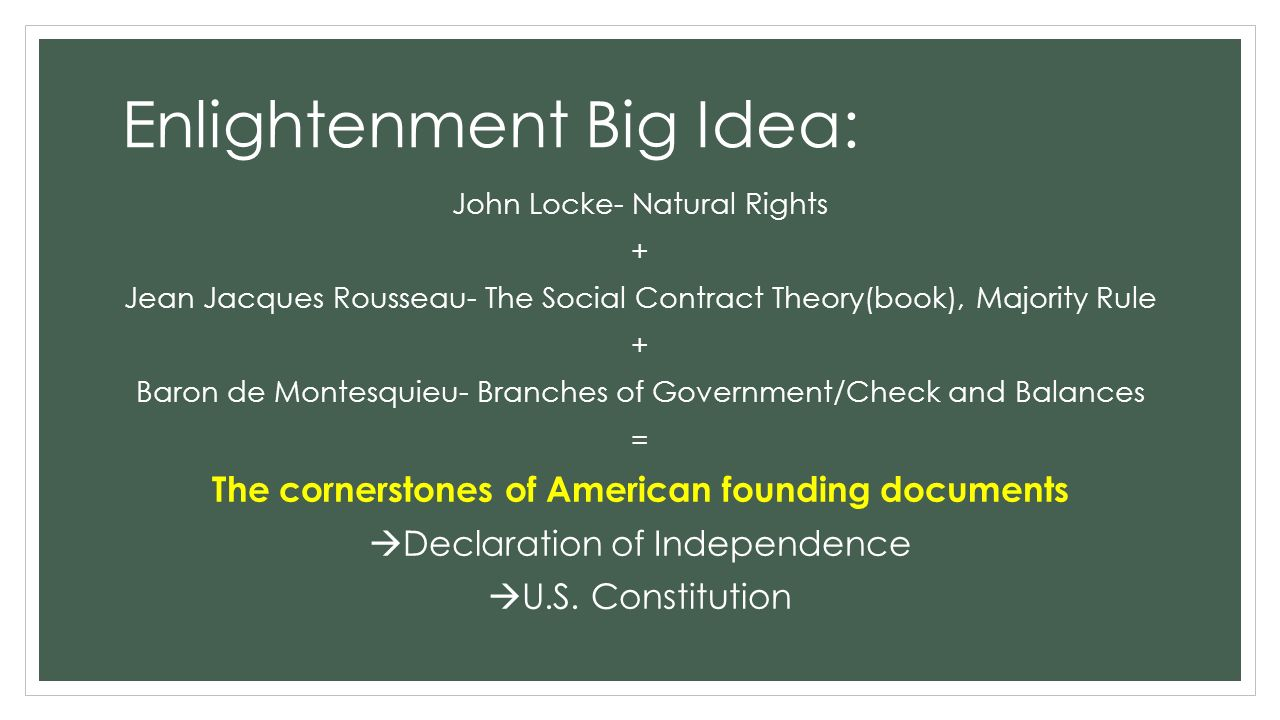 how did rousseau influence the declaration of independence