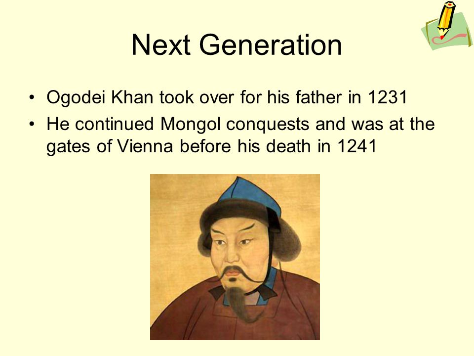 Image result for the death of mongol leader gen his khan