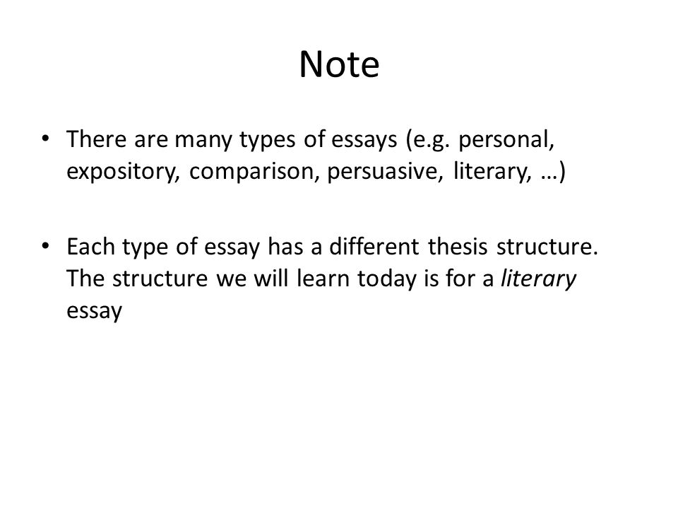 literary essay thesis