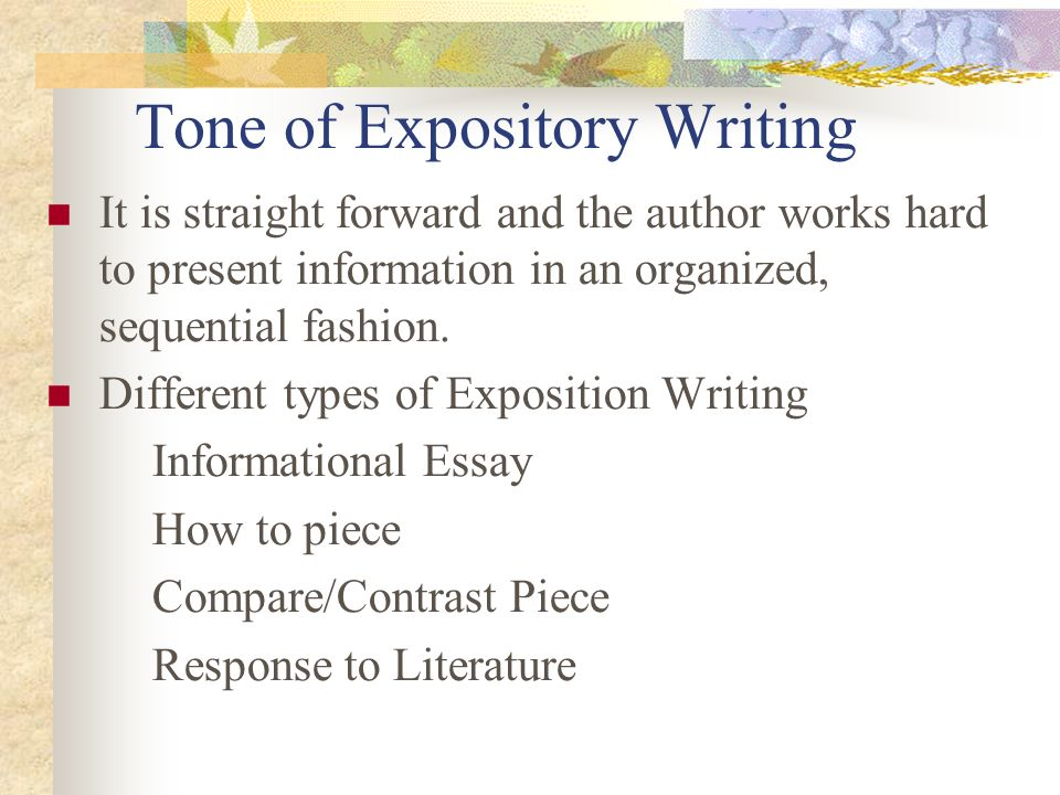 Tone of Expository Writing