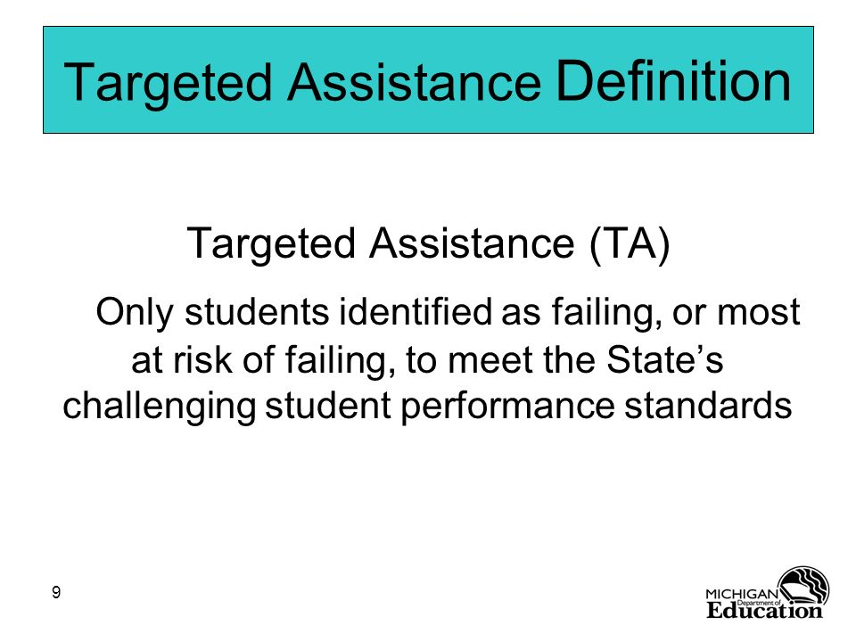 Targeted Assistance Definition