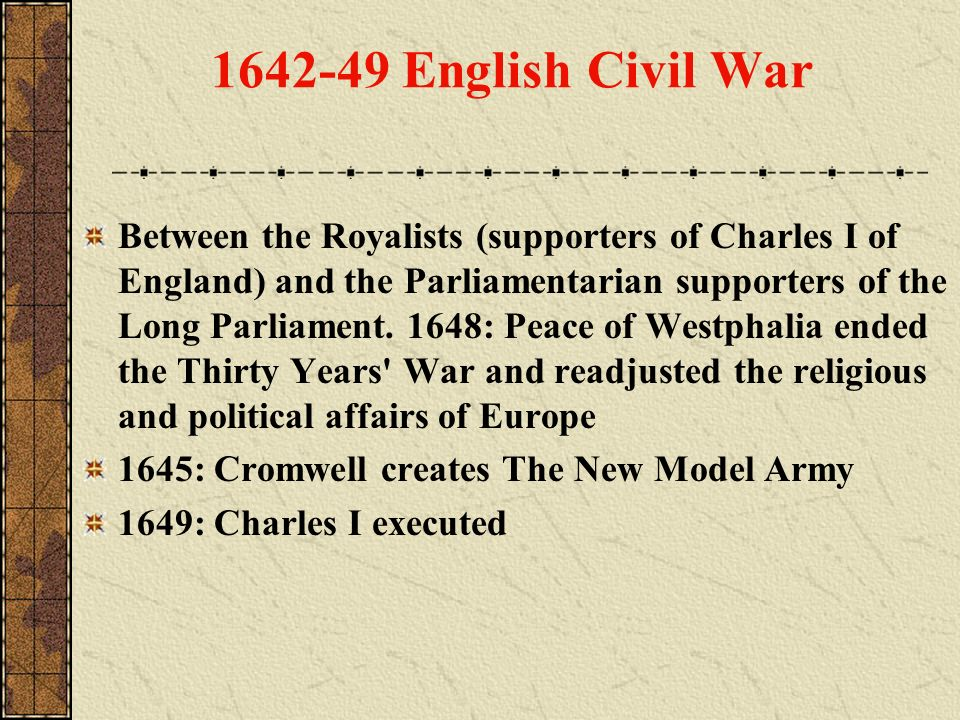 1642-49 English Civil War