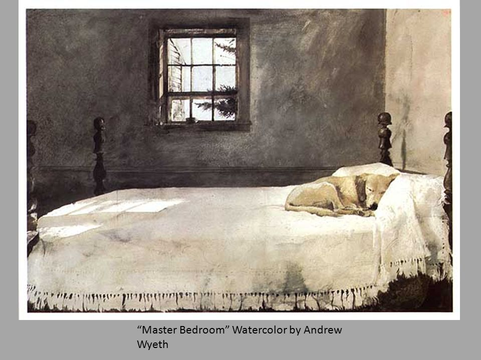 master bedroom wyeth watercolor painting ppt 12349