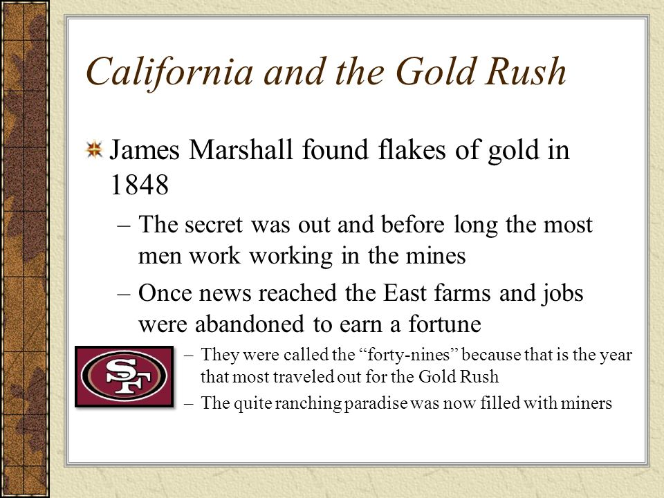 California and the Gold Rush