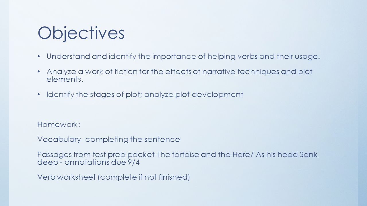 Workbooks helping verb worksheets : Day 9 – Verbs and Commercial/Literary Fiction - ppt video online ...