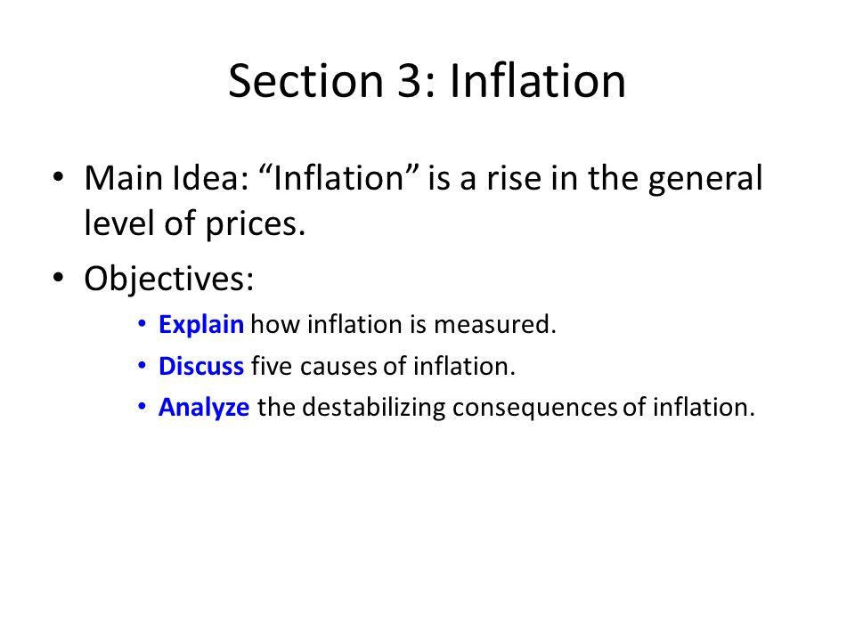 3 main causes of inflation