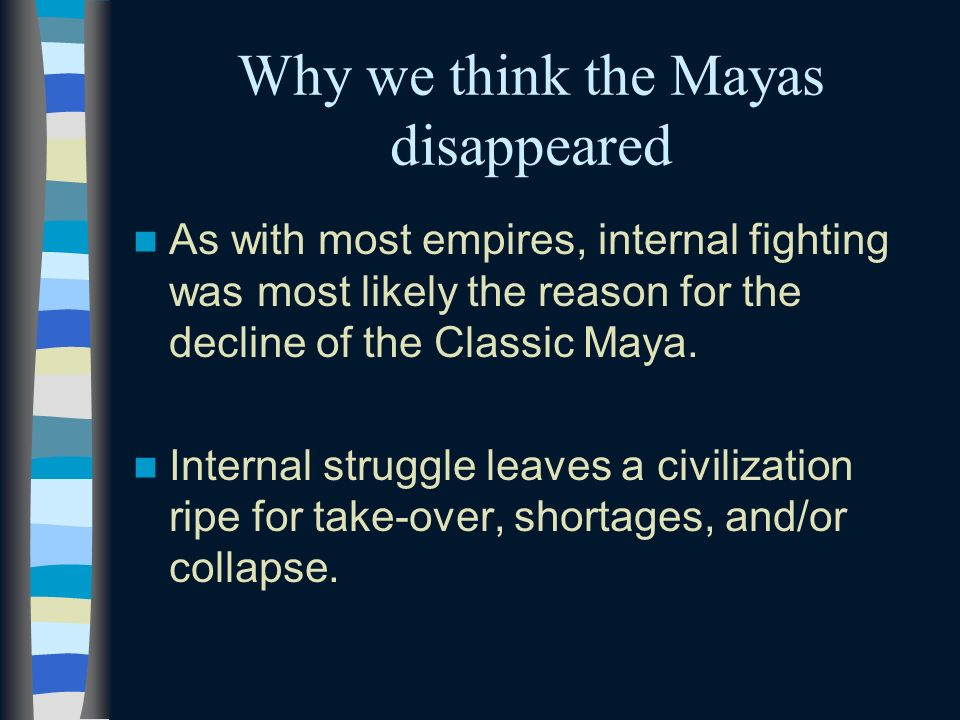 Why we think the Mayas disappeared