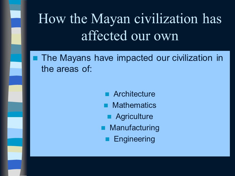 How the Mayan civilization has affected our own