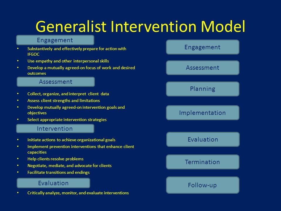 generalist intervention model steps