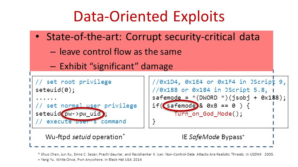Automatic Generation of Data-Oriented Exploits - ppt video
