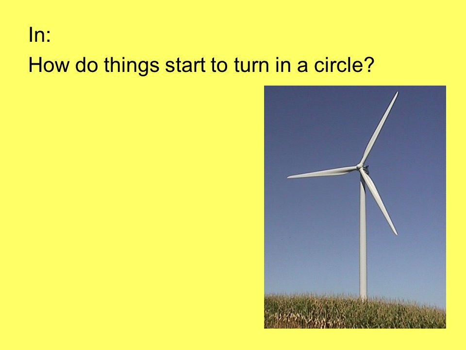 In: How do things start to turn in a circle