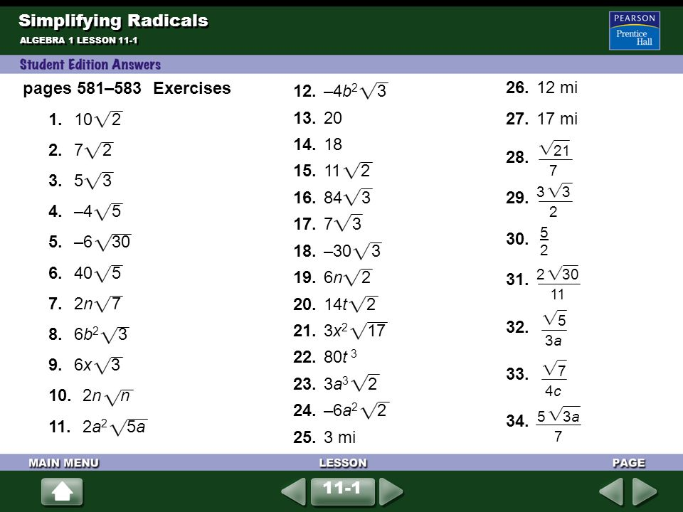 Plete Each Equation 1 A 3 A2 2 B 7 B6 Ppt Download. Worksheet. Simplifying Radicals Activity Worksheet At Mspartners.co