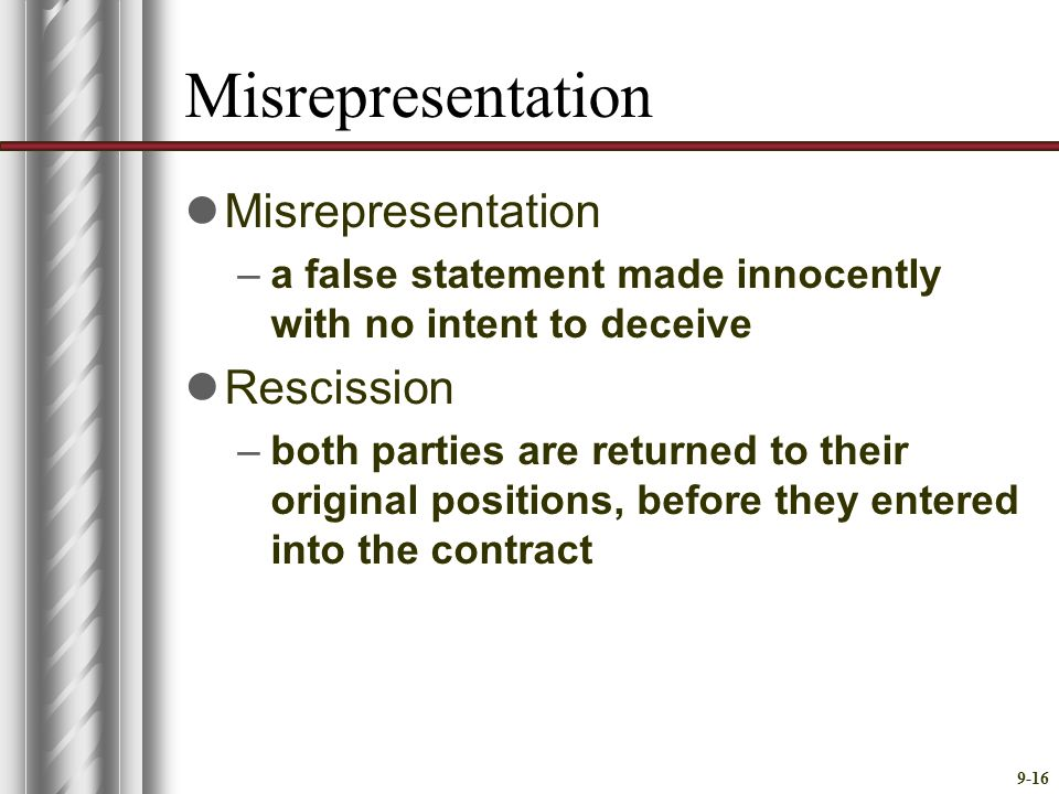 Mutual Assent And Defective Agreement Ppt Video Online Download