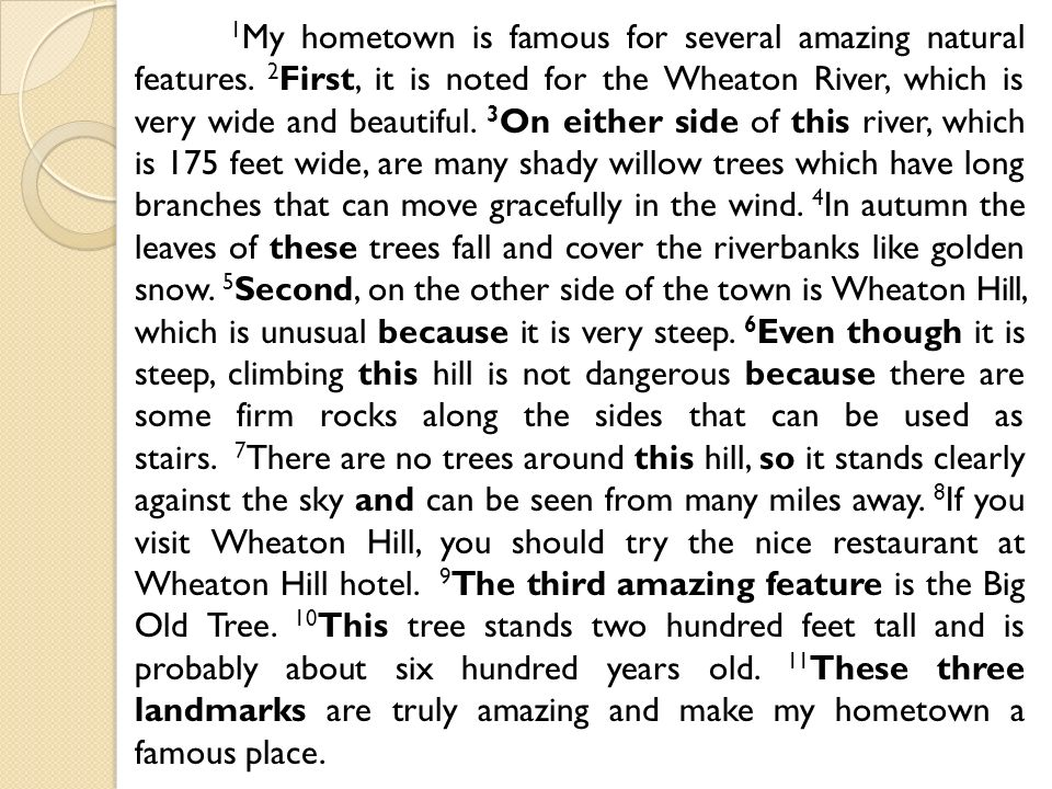 my hometown short essay about nature
