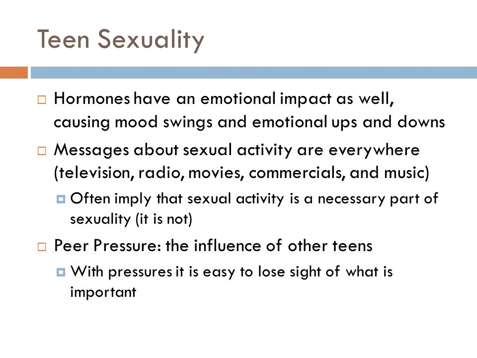 Teenage sexual pressures powerpoint
