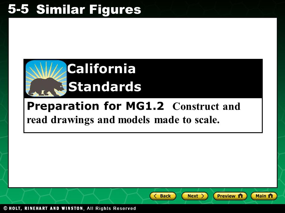 Preparation for MG1.2 Construct and read drawings and models made to scale.
