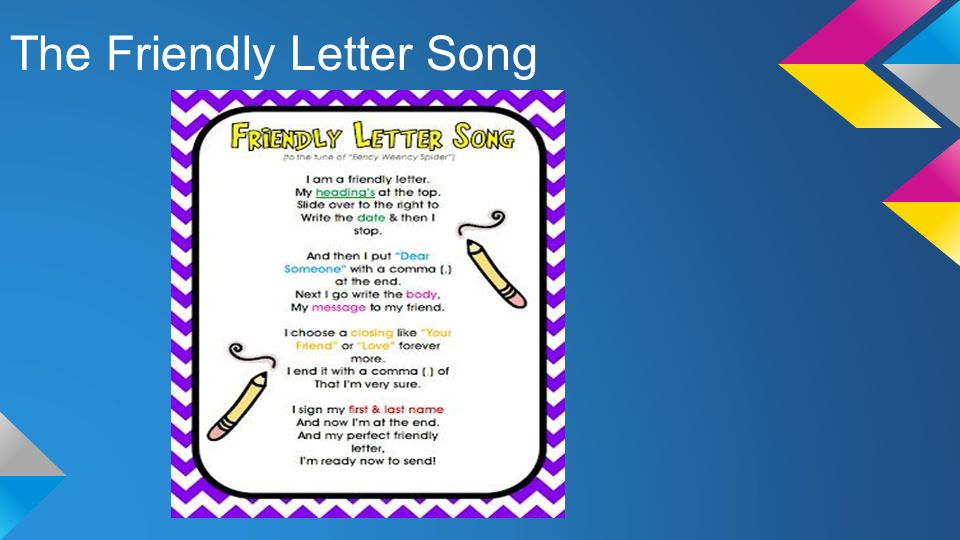 The Friendly Letter Song ppt video online