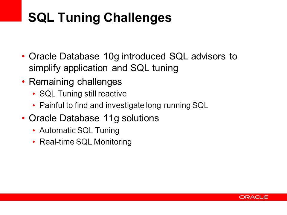 oracle database performance tuning case study 3 capacity planning as a performance tuning tool—case study for a very large database environment this article discusses the performance and scalability impact due to severe cpu and i/o bottlenecks in avery large database (over 20 terabytes)it describes the.