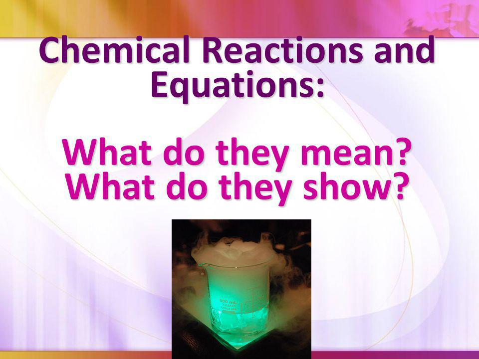 Chemical Reactions and Equations: