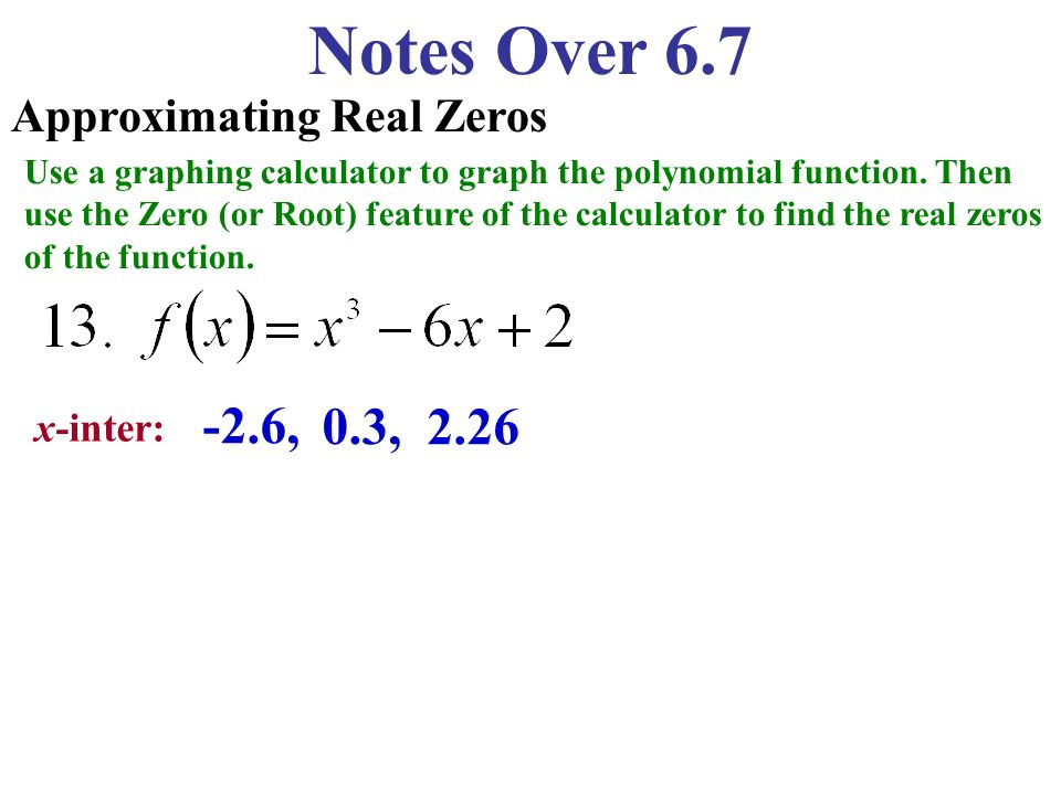 Notes Over 6 7 Finding the Number of Solutions or Zeros