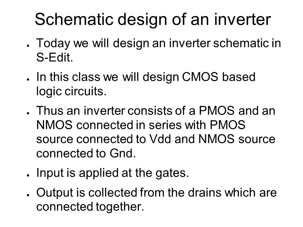 Ece122 Digital Electronics Design Ppt Video Online Download Electronic Circuit Schematics Consisting Of And Analog Devices Schematic An Inverter
