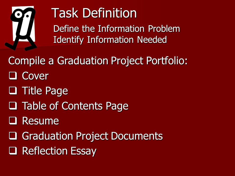 Task Definition Compile a Graduation Project Portfolio: Cover