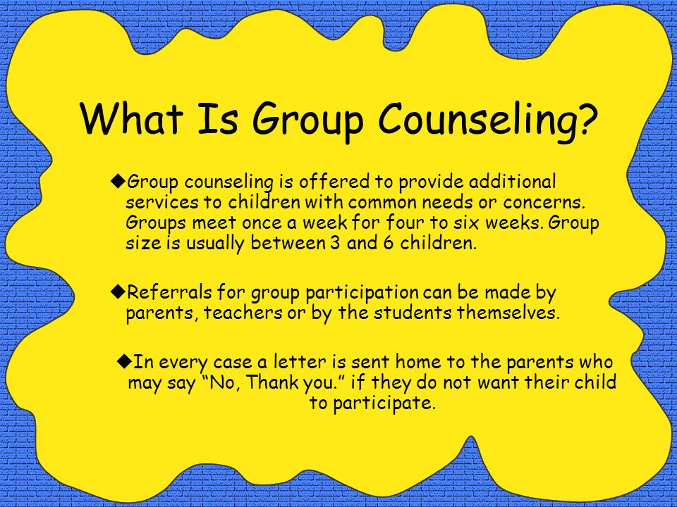 What Is Group Counseling