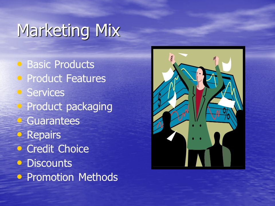 Marketing Mix Basic Products Product Features Services