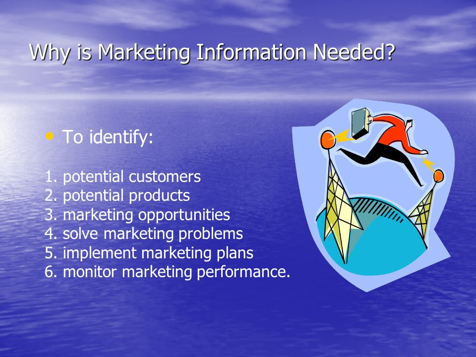 Why is Marketing Information Needed