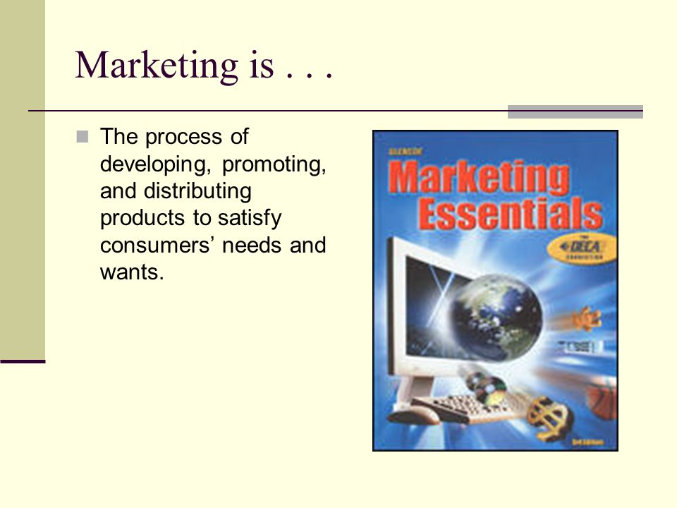 Marketing is .