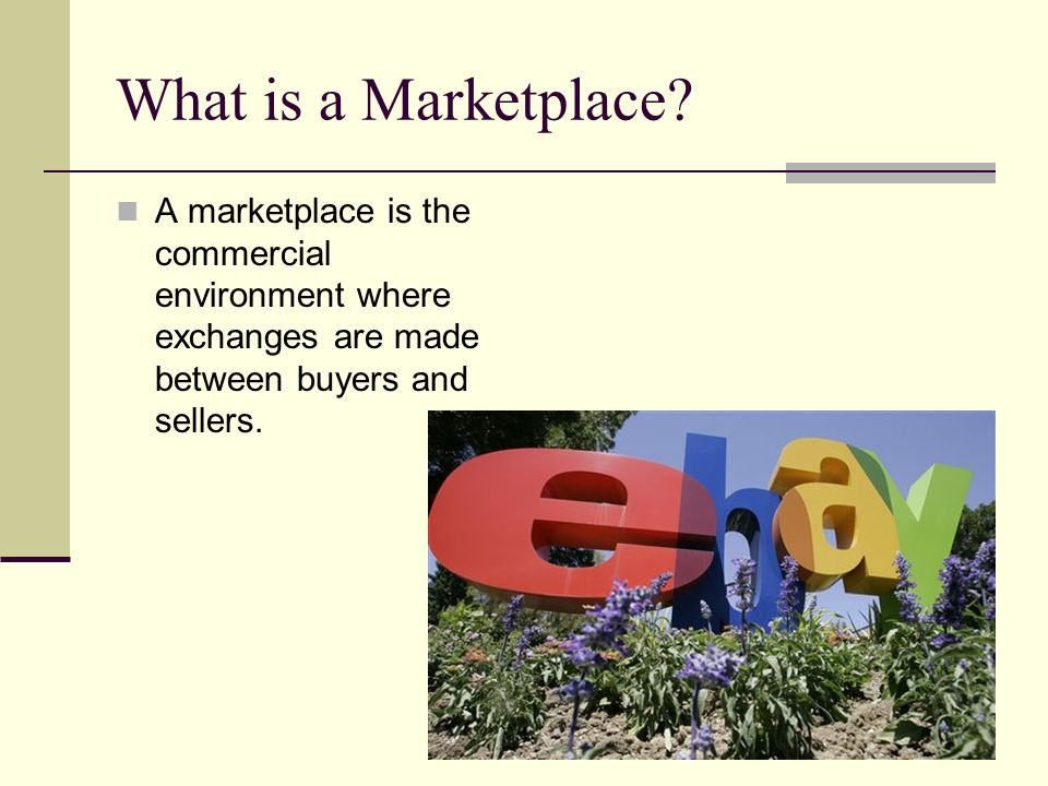 What is a Marketplace.