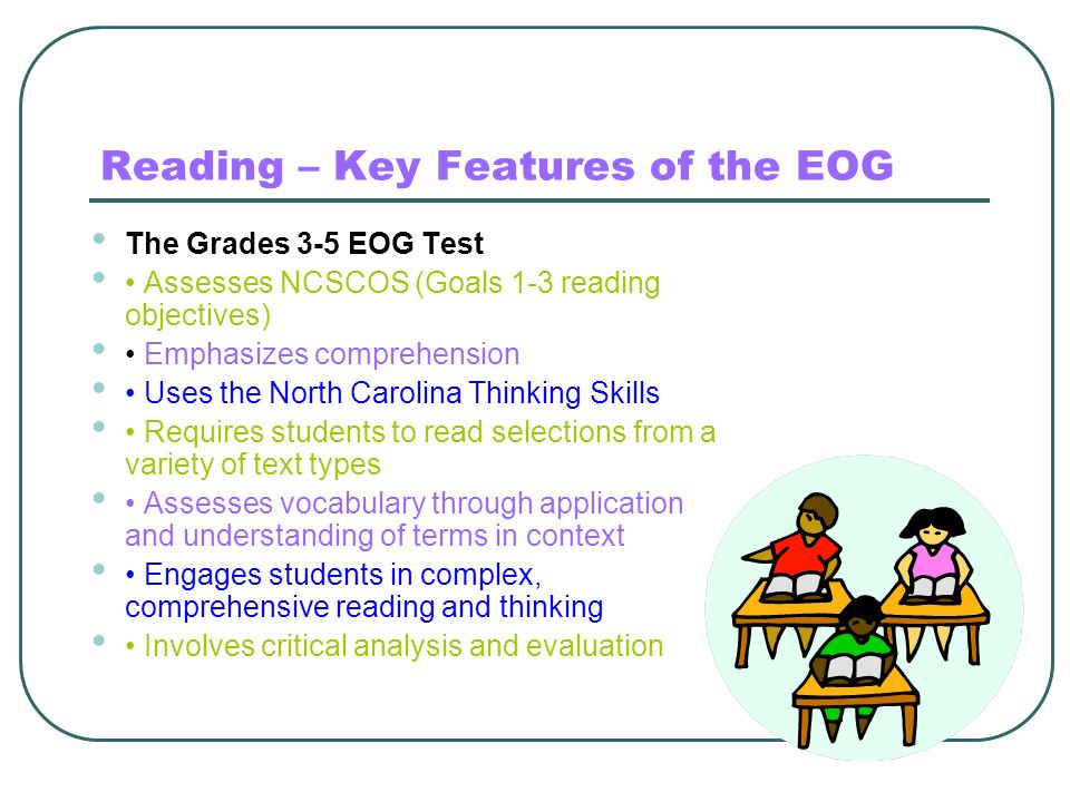 Reading – Key Features of the EOG
