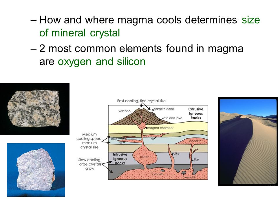 How and where magma cools determines size of mineral crystal