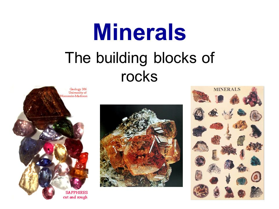 The building blocks of rocks