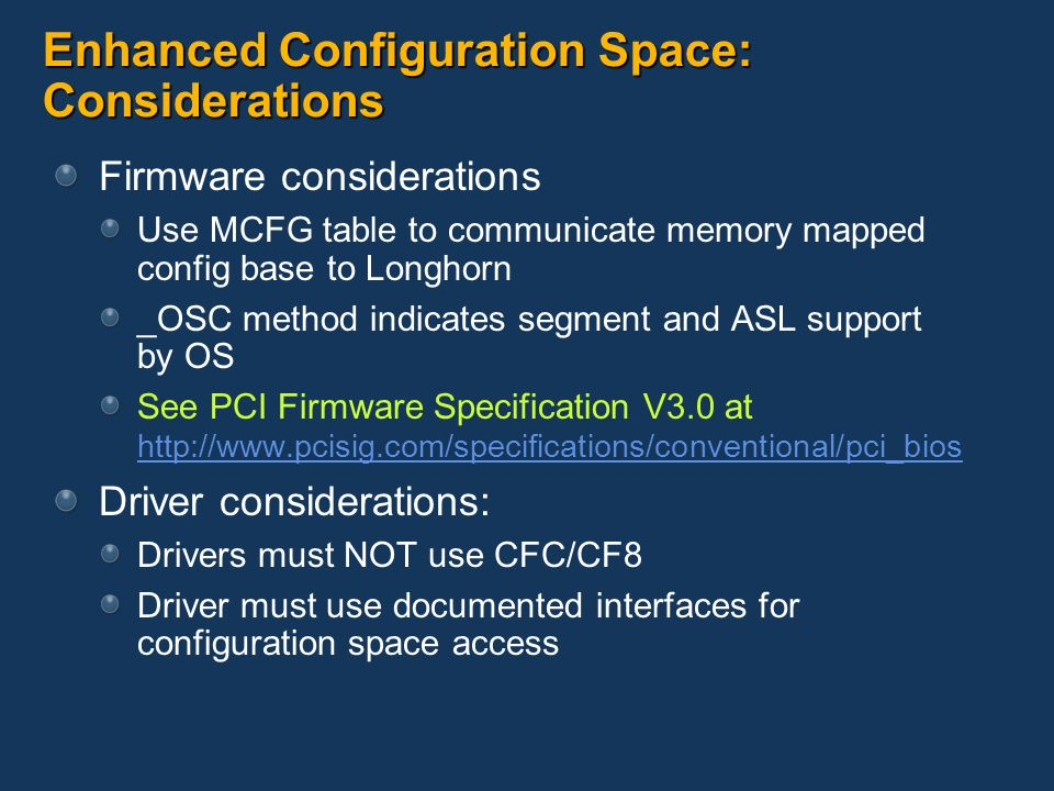 PCI Express Update for Windows Longhorn - ppt video online download