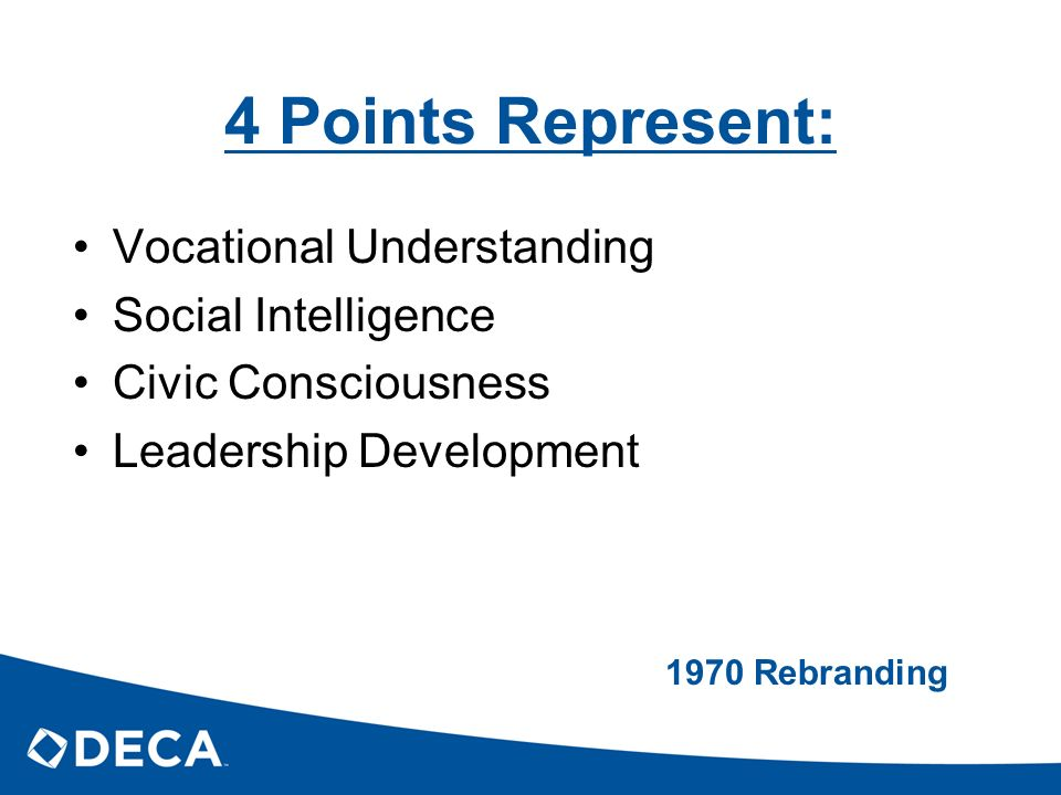 4 Points Represent: Vocational Understanding Social Intelligence