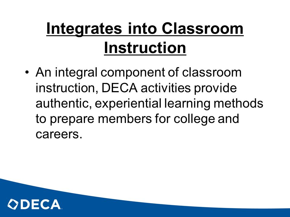 Integrates into Classroom Instruction