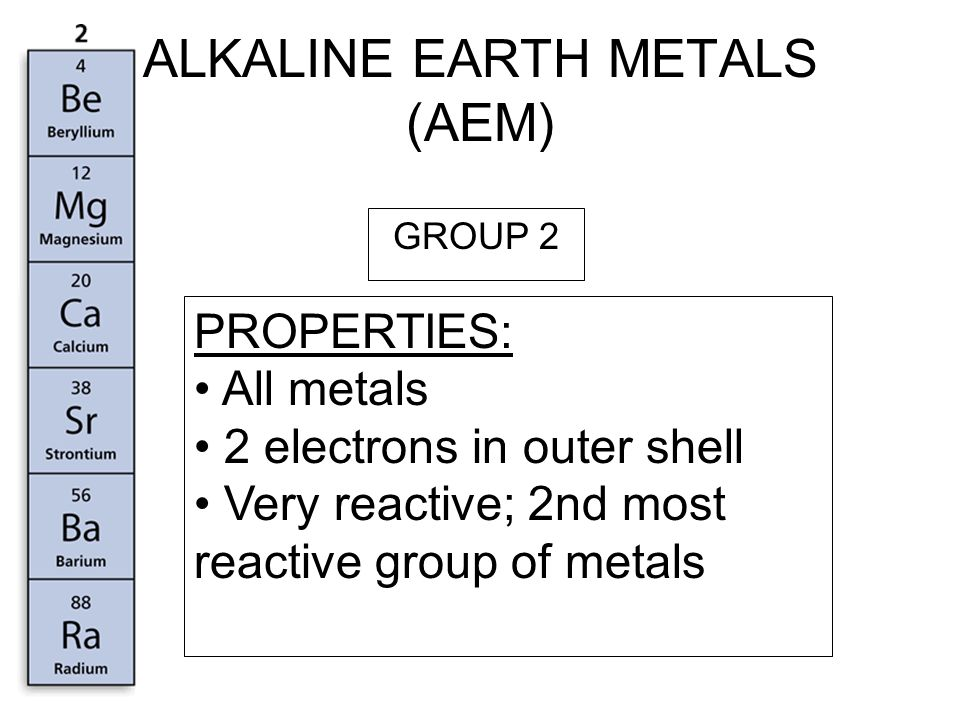 Trends in the periodic table ppt video online download 5 alkaline earth urtaz Gallery